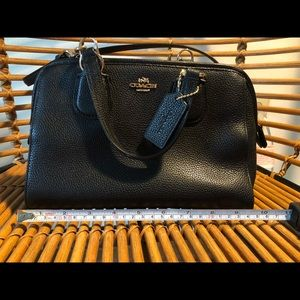 Black coach leather small handbag purse